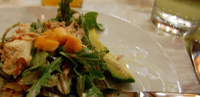 Crab salad with beer aioli