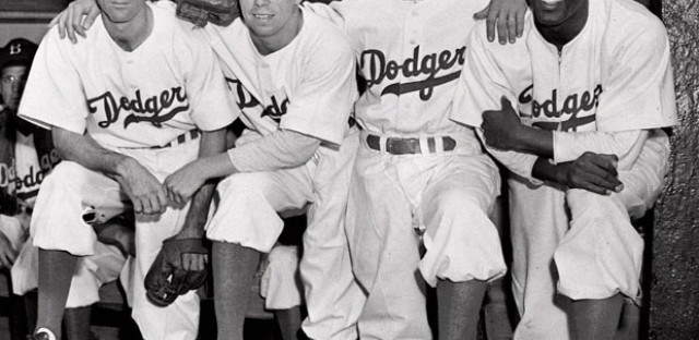 Jackie Robinson broke baseball's color barrier in 1947, becoming the first black player in the majors.
