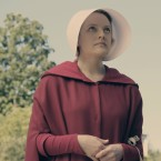 Elisabeth Moss and Alexis Bledel as the Handmaids Offred and Ofglen in Hulu's new limited series, The Handmaid's Tale.