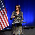 First lady goes to Hadiya Pendleton's high school