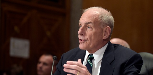 In this June 6, 2017, file photo, Homeland Security Secretary John Kelly testifies on Capitol Hill in Washington. The Trump administration is formally revoking an Obama-era program intended to protect immigrant parents of U.S. citizens and legal residents from deportation. The Deferred Action for Parents of Americans program was announced by the Obama administration in 2014 but was blocked by a federal judge in Texas after 26 states challenged the program's legality in federal court. Kelly formally revoked the policy memo that created the program, which mirrored an earlier effort to protect young immigrants in the country illegally from deportation on June 15.