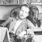 A self-portrait taken by Cajal in his library when he was in his 30s.