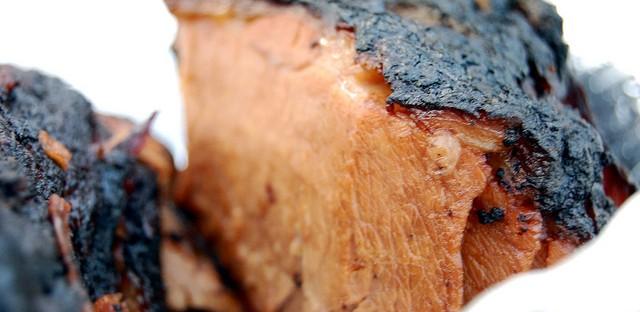 Crusty brisket slice by Smoque BBQ