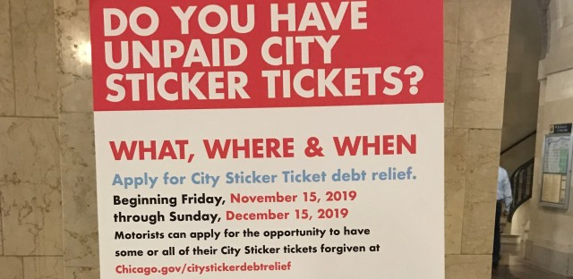 city sticker debt relief