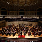 Musicians perform at the Chicago Symphony Orchestra.