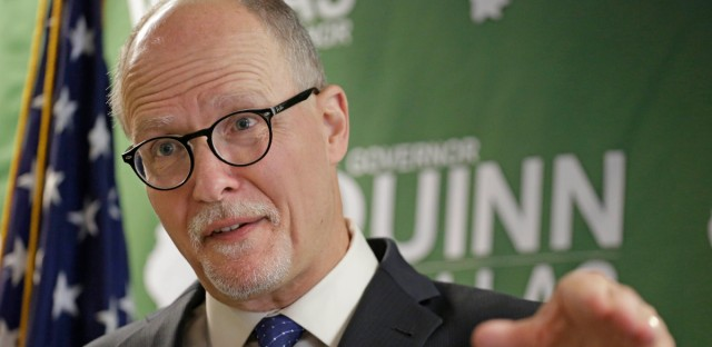 Then-Democratic lieutenant governor candidate Paul Vallas speaks during a news conference Chicago on April 2, 2014.