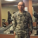 This photo provided to the AP by Panshu Zhao shows Zhao in uniform on Feb. 11, at a U.S. Army Reserve installation in Houston. Zhao is one of dozens of immigrant military recruits and reservists who have been waiting for years to deploy but were recently discharged with little explanation. (AP)