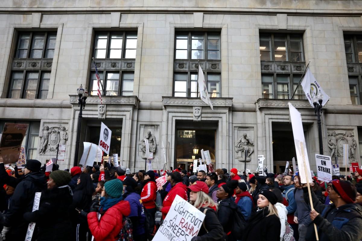 CTU rally at City Hall