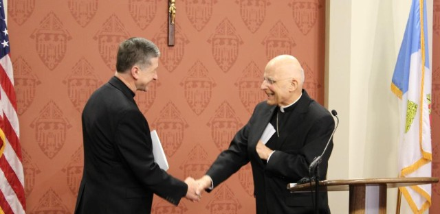 Cardinal George welcomes Bishop Blase Cupich as the 9th Archbishop of Chicago.