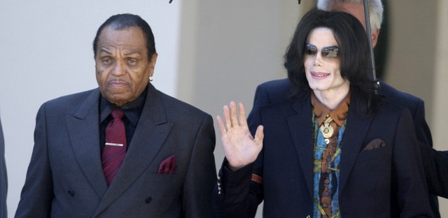 Joe Jackson, left, appears in this file photo from 2005 with his son, pop star Michael Jackson.