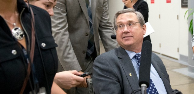 Mark Kirk in Washington with Reporters