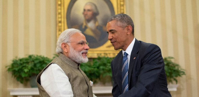 President Barack Obama and Indian Prime Minister India Narendra Modi shake hands before their meeting in the Oval Office of the White House in Washington, Tuesday, June 7, 2016.