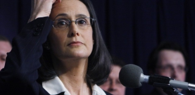 Attorney General Lisa Madigan reacts to pending utility rate hike legislation
