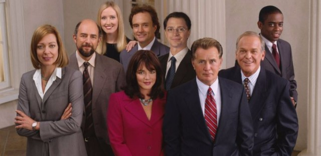 The cast of NBC's The West Wing.