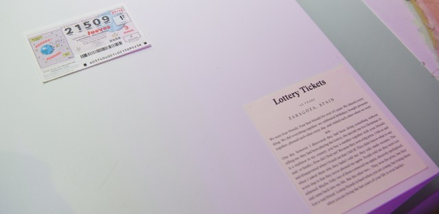 This lottery ticket symbolizing a broken friendship was on display at a recent pop-event for The Museum Of Broken Relationships.