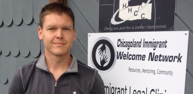 Tony Burrell is executive director of the Chicagoland Immigrant Welcome Network in Hammond, Indiana. He's against Indiana Gov. Mike Pence's call not to accept any Syrian refugees following the terrorist attack in Paris last week.