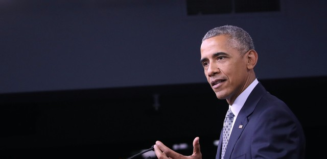 President Obama speaks to reporters after meeting his National Security Council at the Pentagon on Thursday.