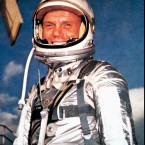 A 1959 NASA promotional photo shows John Glenn in his spacesuit. Glenn's death was confirmed Thursday. He was 95 years old.