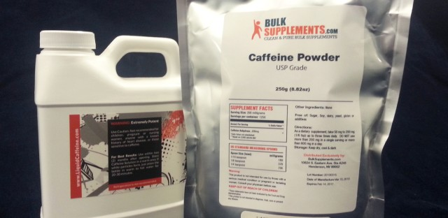 One teaspoon of pure caffeine powder delivers about the same jolt as 25 cups of coffee.