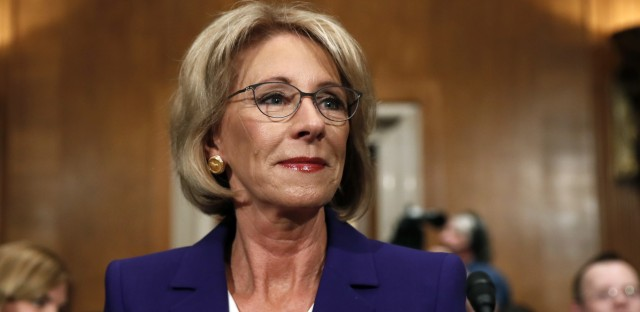 Education Secretary Betsy DeVos is one of the most controversial Cabinet picks in recent memory.