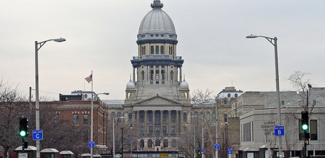 The Illinois Statehouse in Springfield will be the site of many pension battles to come.