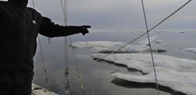 Arctic ice melting, shipping lanes open