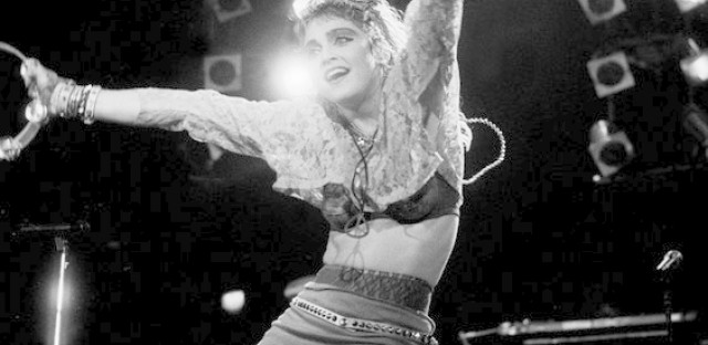 Madonna performs at the UIC Pavillion on May 18th, 1985, in Chicago.