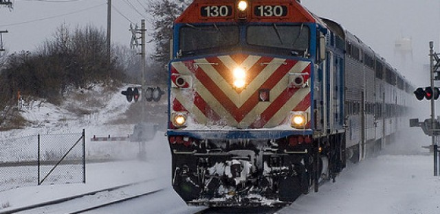 Metra faces it's first cold blast of the winter