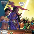 A page from World of Wakanda No. 1 written by Yona Harvey, Roxane Gay and Ta-Nehisi Coates.