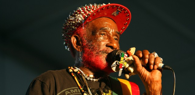 Lee Scratch Perry performs on day 1 of weekend 1 at the 2013 Coachella Valley Music and Arts Festival at the Empire Polo Club on Friday, April 12, 2013 in Indio, Calif.