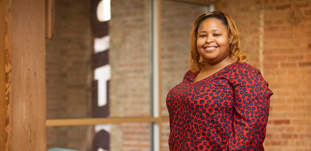 Erica Bland-Durosinmi, political director at SEIU Healthcare Illinois, is among several African-American women boosting political leadership in Chicago.