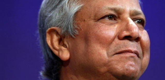 Microfinance pioneer Muhammad Yunus was stripped of his position at Grameen Bank.