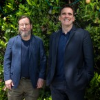Director Lars von Trier, left, and actor Matt Dillon pose for portrait photographs for the film 'The House That Jack Built', at the 71st international film festival, Cannes, southern France, Wednesday, May 16, 2018.