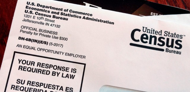 A March 23, 2018 photo shows an envelope containing a 2018 census letter mailed to a resident in Providence, R.I., as part of the nation's only test run of the 2020 Census. Local officials from the City of Chicago and Cook County are working with advocacy groups to ensure a robust count in the Chicago area.