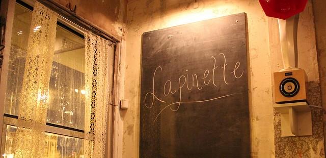 Virtue Lapinette cider chalkboard at Lula Cafe in Chicago