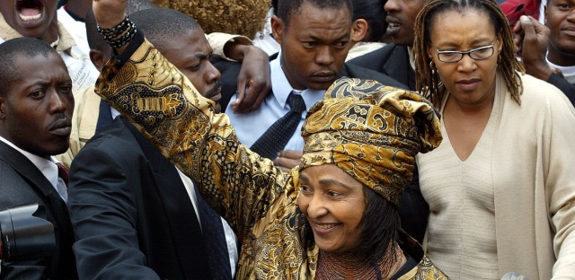 Winnie Madikizela-Mandela on Monday, July 5, 2004.