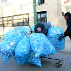 The first citywide recycling program debuted in 1995, and required residents to throw their recycling in special blue, plastic bags before throwing the bags in the trash.