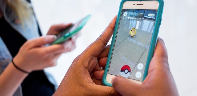 The mobile app Pokémon Go is currently the top downloaded free app in both Apple and Android stores. The augmented reality game allows smartphone users to track and catch Pokémon.
