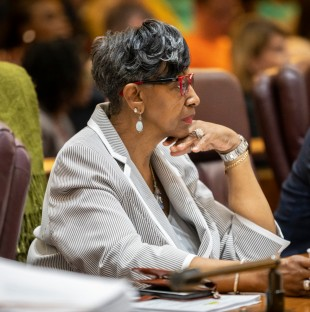 Chicago Ald. Carrie Austin, 34th Ward, attends a City Council meeting on June 12, 2019.