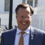 House Freedom Caucus member Rep. Dave Brat, R-Va., outside the White House on March 23, the day before GOP leaders pulled a health care bill from the House floor.