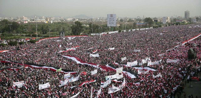 Yemenis March In Support Of New Government