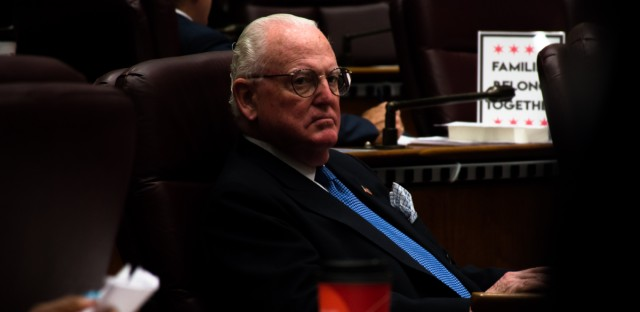 Ald. Ed Burke, 14th Ward, at a Chicago City Council meeting on June 27, 2018.