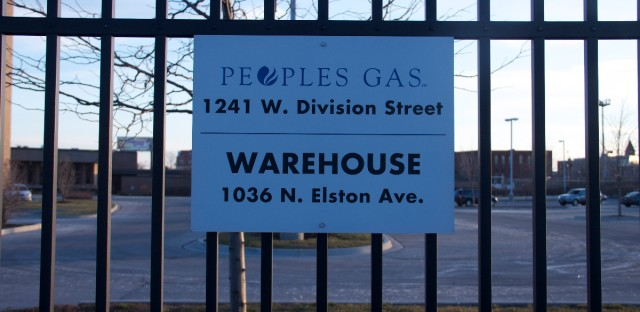Peoples Gas sign