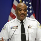 Chicago Police Superintendent Eddie Johnson speaks at a news conference in Chicago on Aug. 23, 2017.