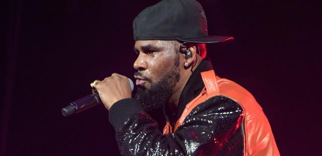 R. Kelly, performing in 2015 in Brooklyn, New York.