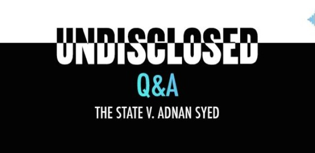 Undisclosed: The State Vs. Adnan Syed : audioBoom Q&A Pt.1: Rabia Chaudry Image