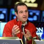 Lending Club founder and then-CEO Renaud Laplanche is interviewed on TV after his company's initial public offering on the New York Stock Exchange in December 2014 in New York. Laplanche resigned in May 2016.