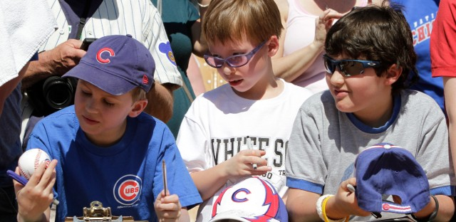 Cubs fans and a White Sox fan