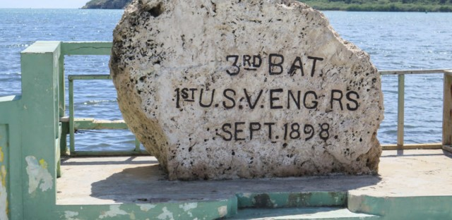Guanica Bay is where American troops commanded by General Nelson Miles landed on July 25, 1898. At the site, a stone marker engraved by the 3rd Battalion of the U.S. Army commemorates the invasion.