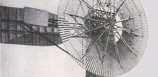 Charles Brush's automatic wind turbine.